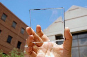 Transparent solar glass developed by University of Michigan.